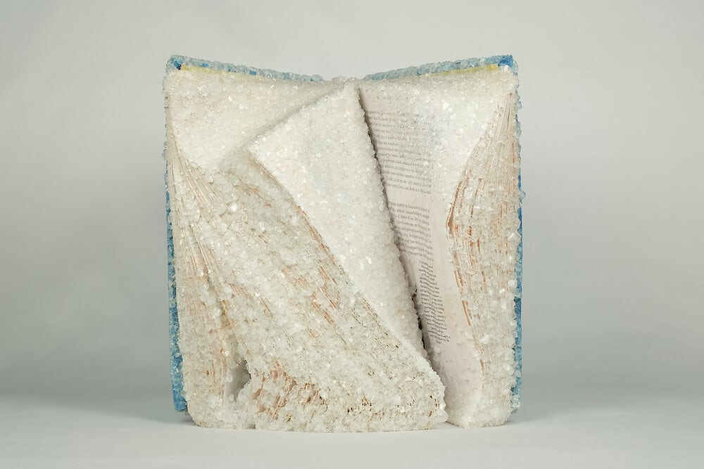 AlexisArnold16 08 - Artist Alexis Arnold Transforms Old Magazines Into Crystallized Sculptures