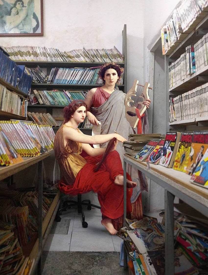 Ukrainian Artist Reimagined Classical Paintings as Part of Modern-Day Naples -
