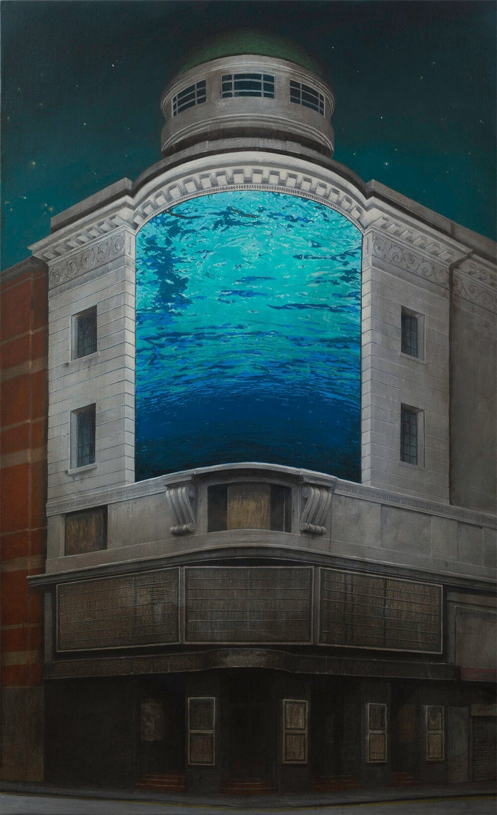 Luminous Sunsets Hidden Within Forgotten Places by Andrew McIntosh -surreal, painting, landscapes