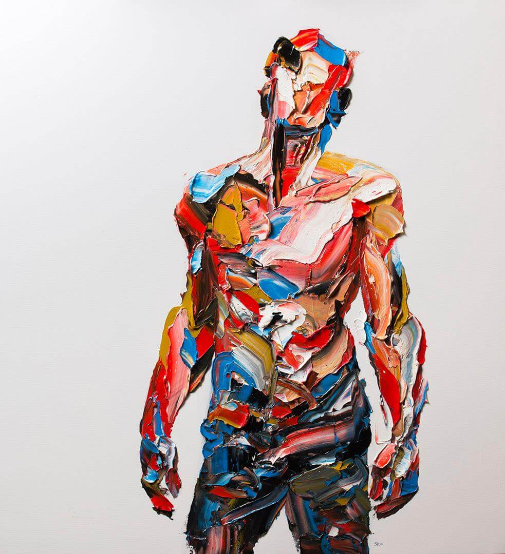 Large Palette Knife Portraits by Salman Khoshroo -