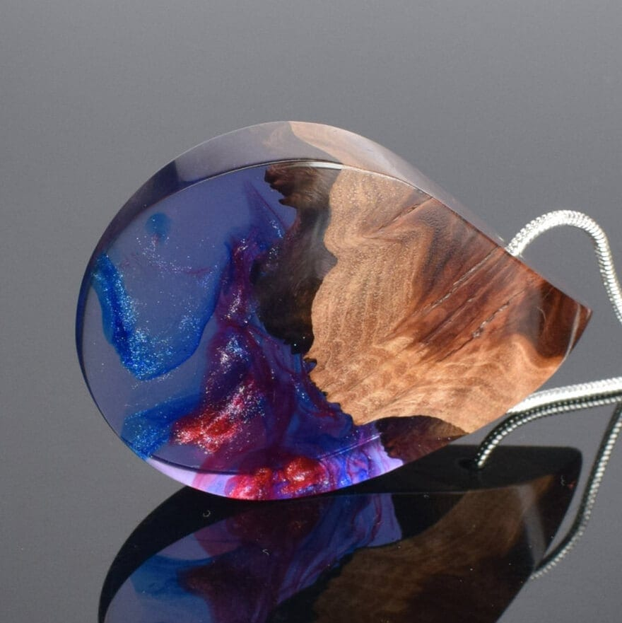Beautiful Wood And Resin Jewellery by ArtfulResin -