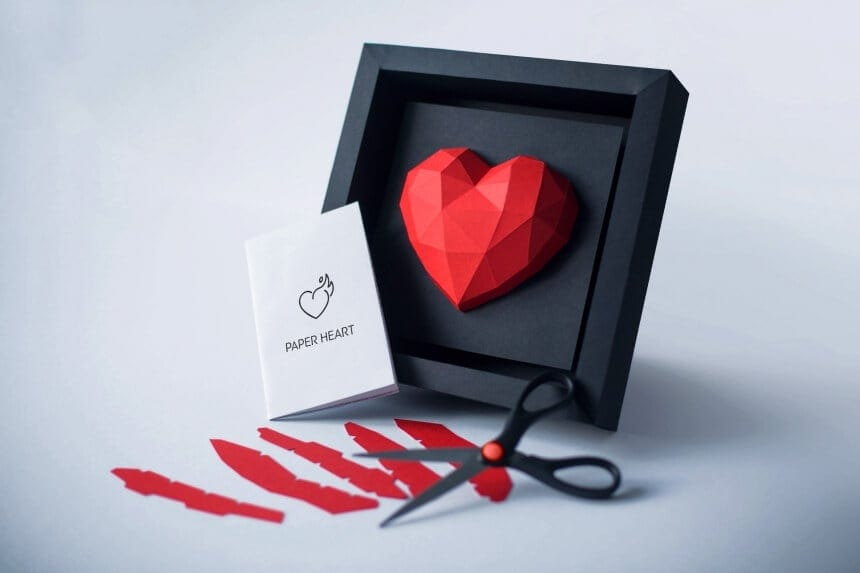 The Paper Heart Frame Is The Best Gift For Valentine's Day -