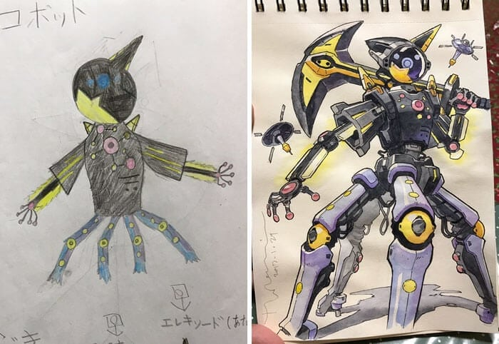 Creative Dad Converts His Children Doodles Into Anime