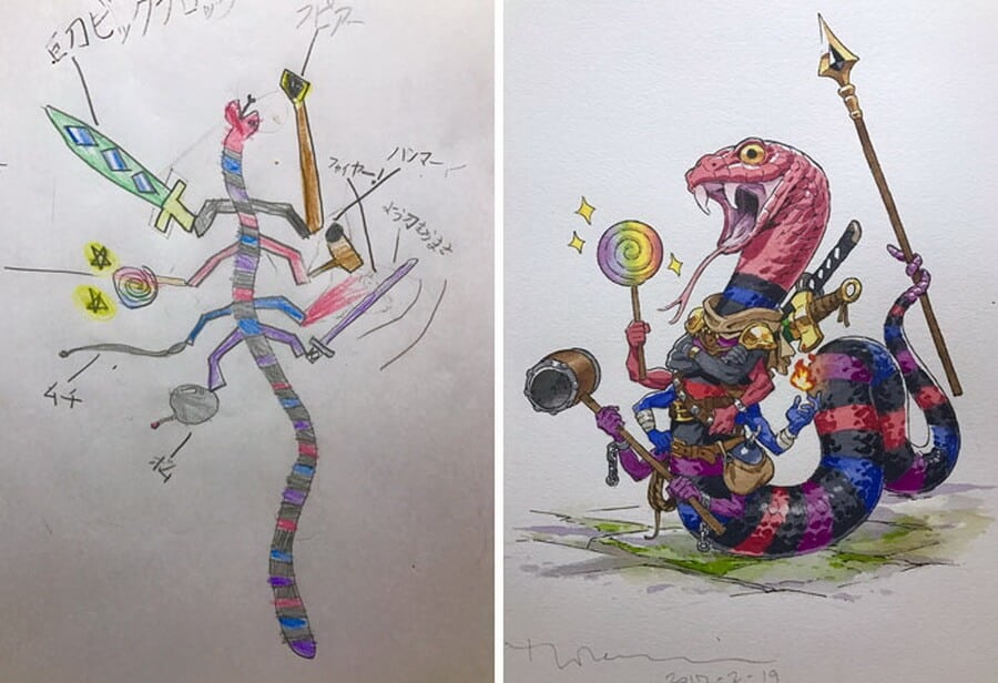 Creative Dad Converts His Children Doodles Into Anime Figures -
