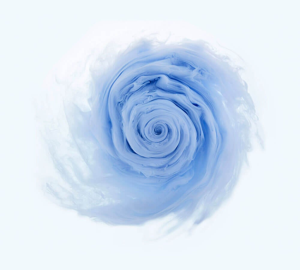 Aqueous Roses and Swirling Vortexes Filmed by Mark Mawson -