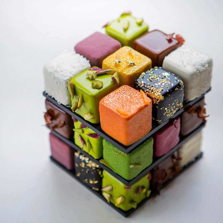rubiks cake cedric grolet 16 758x758 - Geometric Cakes Created By One Of The Best Pastry Chefs In Europe