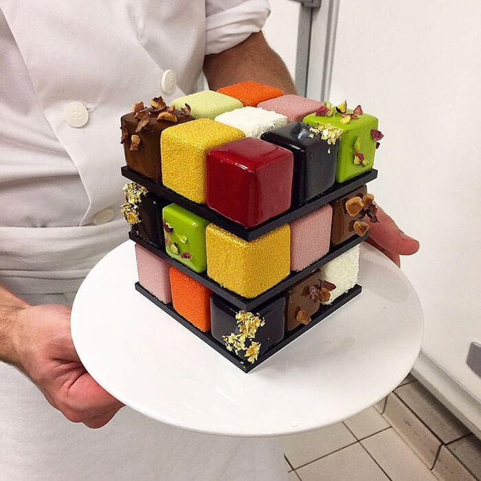 rubiks cube cake pastry cedric grolet 12 - Geometric Cakes Created By One Of The Best Pastry Chefs In Europe