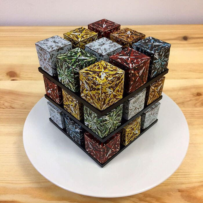 rubiks cube cake pastry cedric grolet 20 - Geometric Cakes Created By One Of The Best Pastry Chefs In Europe