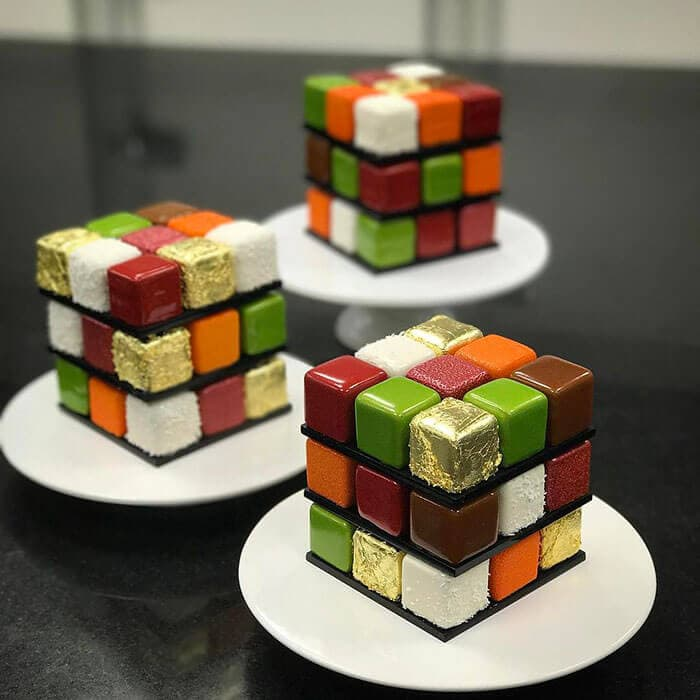 rubiks cube cake pastry cedric grolet 22 - Geometric Cakes Created By One Of The Best Pastry Chefs In Europe