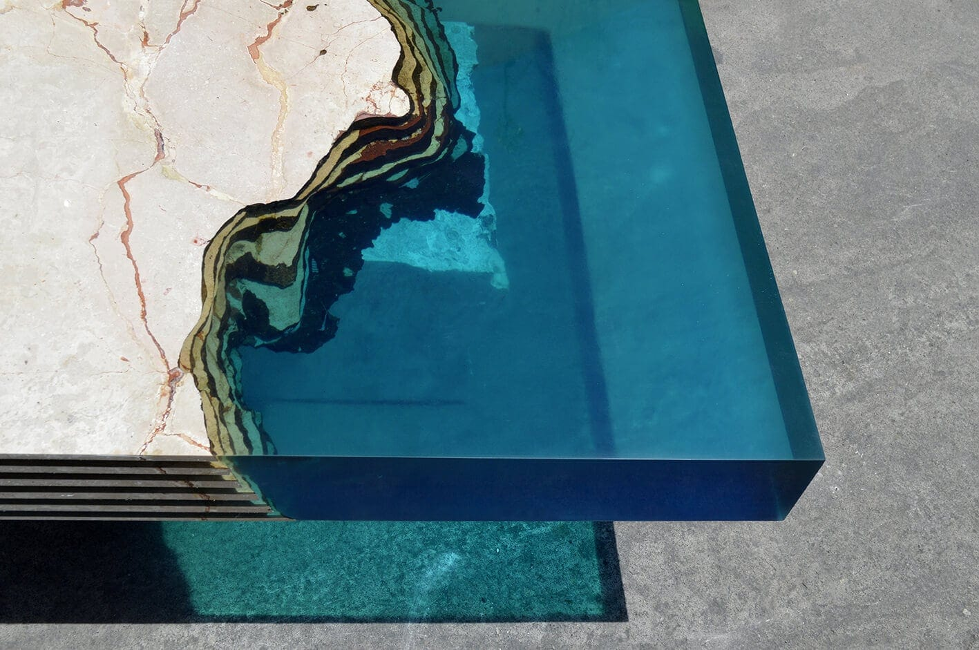 Resin And Stone Table Inspired By The Earth And The