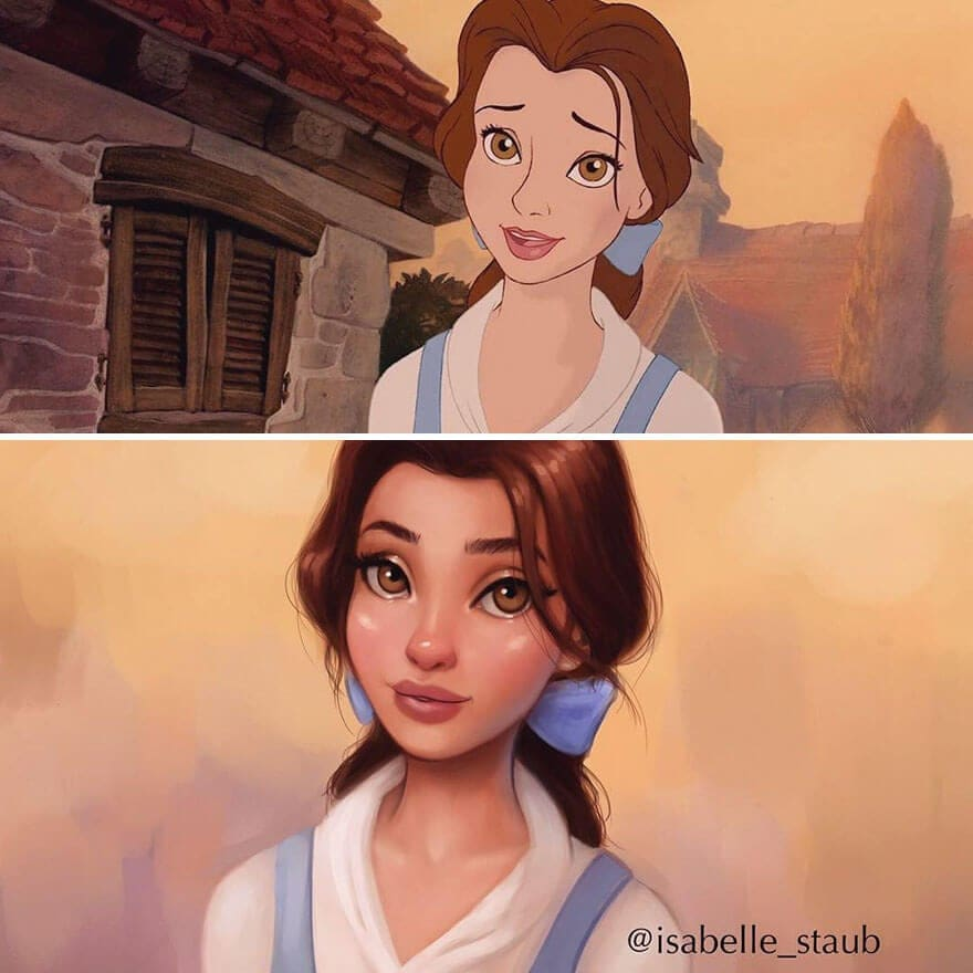 Disney Princesses Reimagined In A Unique Style By Isabelle Staub -
