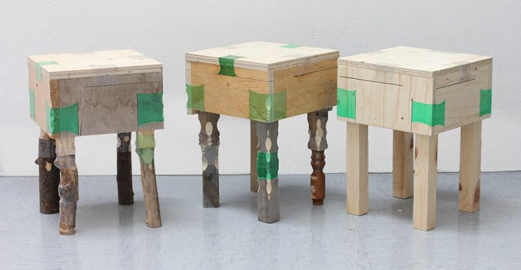 This Clever Woman Used Dumped Plastic Bottles As A Furniture Joining Substance -
