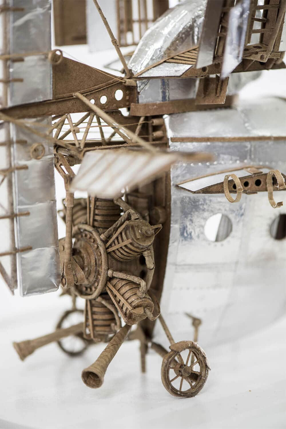 Tiny Sculptural Airships Crafted from Cardboard by Jeroen van Kesteren -