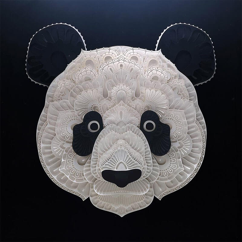 Patrick Cabral 01 - Intricate Papercut Art of Endangered Animals by Patrick Cabral