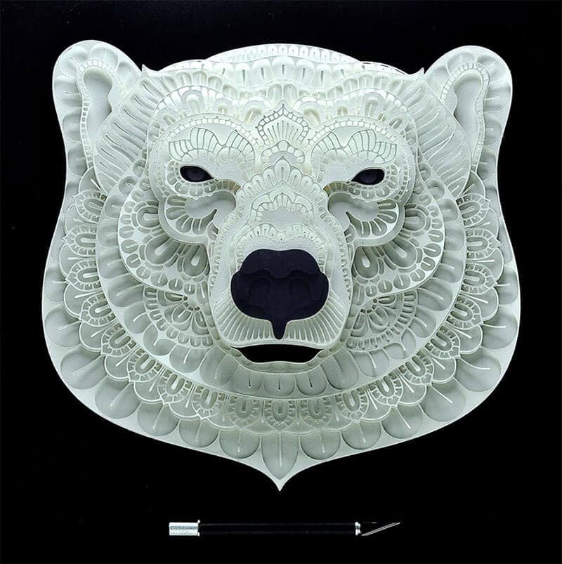 Intricate Papercut Art of Endangered Animals by Patrick Cabral -