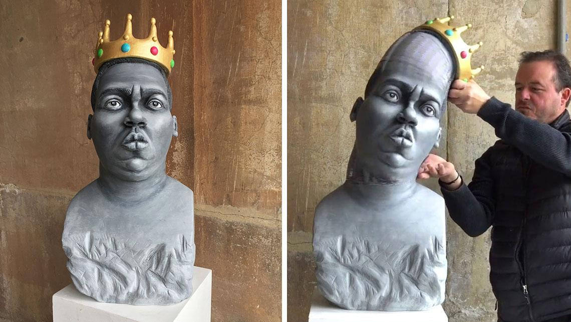 This Stretchable Sculpture Of The Notorious B.I.G. Will Trip You Out  - This Sculpture Of The Notorious B.I.G. Will Blow Your Brain out