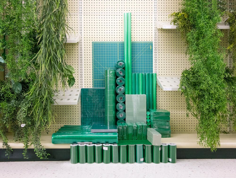 carson davis brown installations 8 - Installations of Similarly-Colored Objects Inside Stores by Carson Davis Brown
