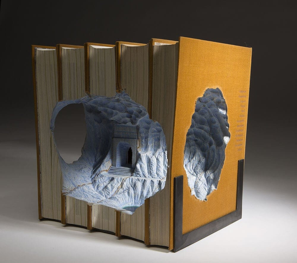 Extremely Beautiful Carved Book Landscapes by Guy Laramée -books