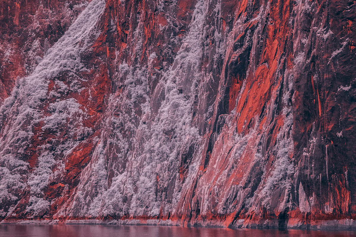 Mysterious Infrared Photography Transforms Alaskan Fjord into Another Planet -
