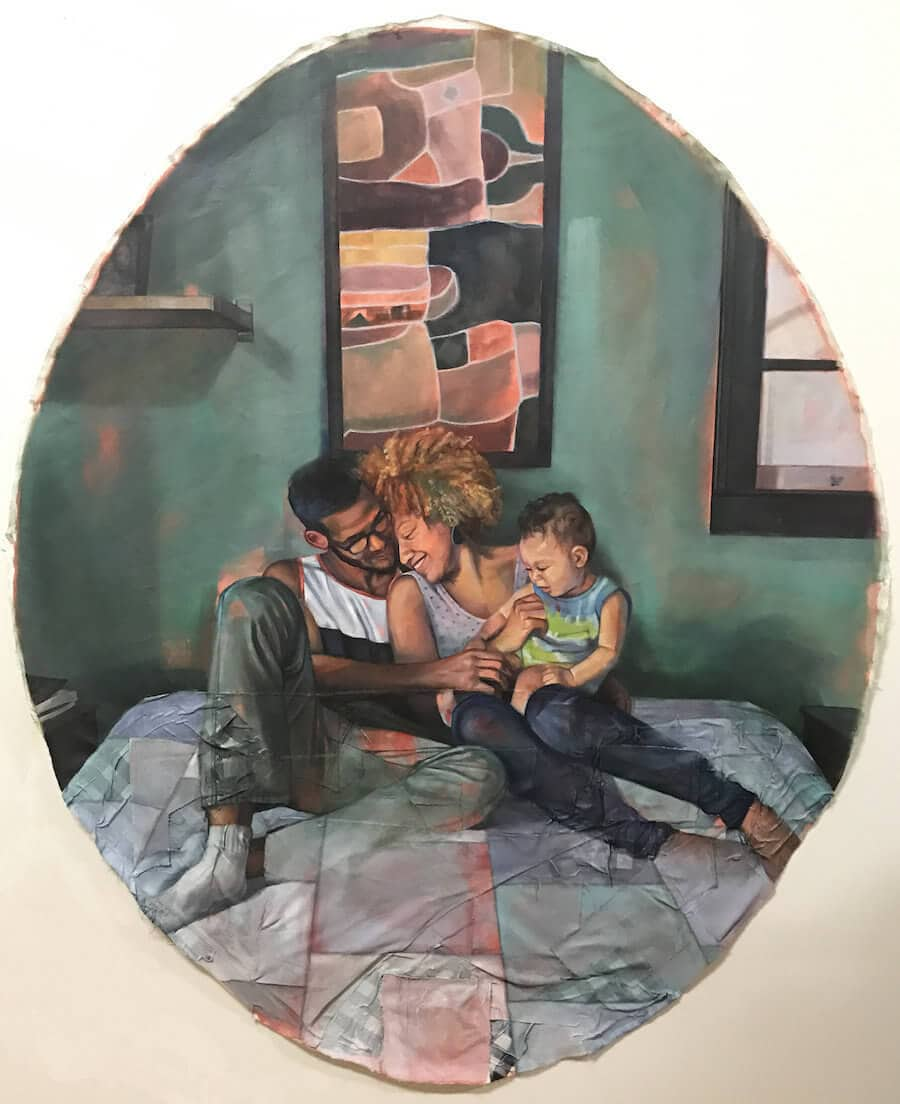 interracial couples paintings leslie barlow 1 - Beautiful Paintings Depict Elegant Everyday Moments of Interracial Couples