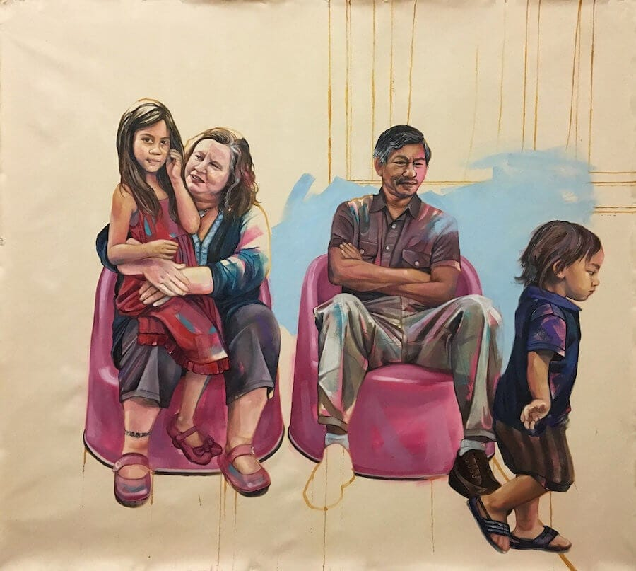 Beautiful Paintings Depict Elegant Everyday Moments of Interracial Couples -