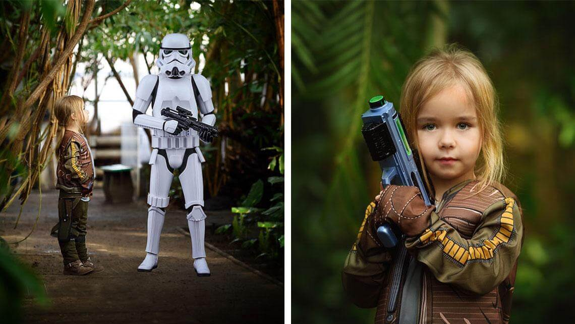 This Mom Created The Cutest Star Wars Photosession for Her Little Daughter -Star Wars