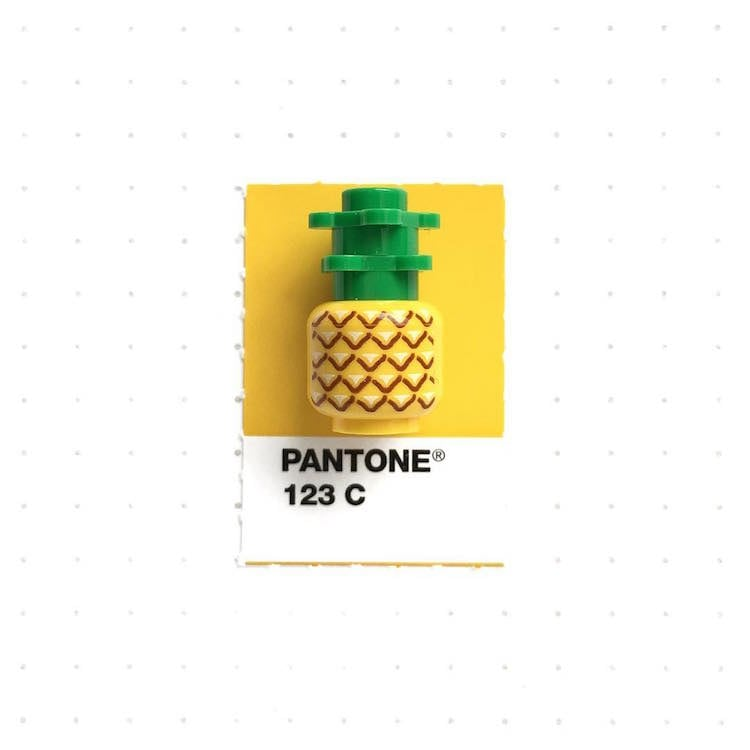 Artist Matches Small Everyday Objects with Their Pantone Swatches -