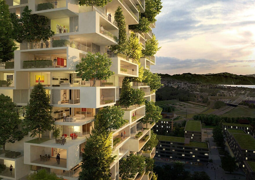 vertical forest stefano boeri china architecture 5 - China's First Vertical Forest will be Covered in Over 3,000 Plants
