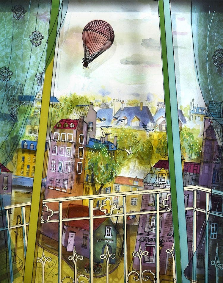 3d painting jean pierre weill fy 1 - Artist Draws on Panes of Glass to Create 3D Paintings