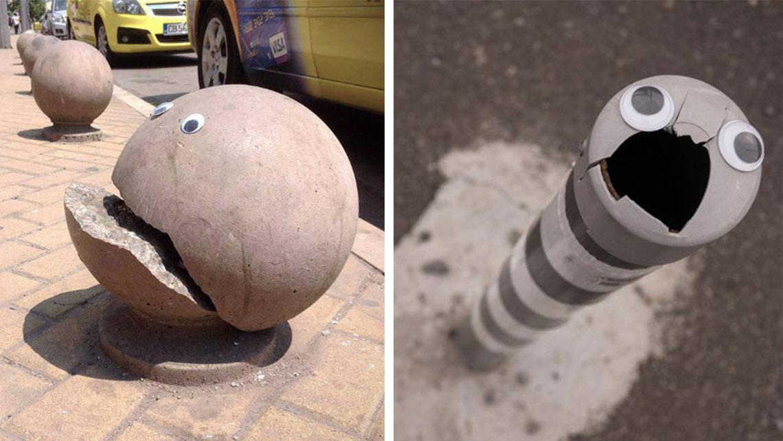 This Artist Makes Bulgarian Streets More Amusing With Googly Eyes -