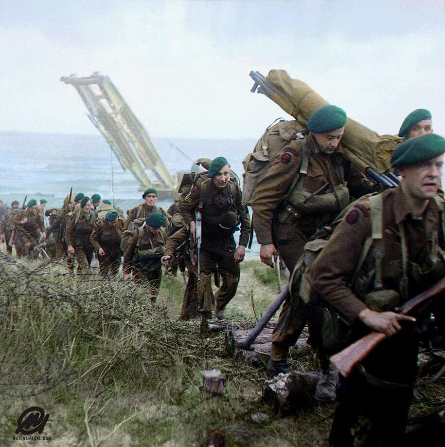 Photographer Colorizes Rare Images Of The Brutal D-Day Battle On Its 73rd Anniversary -