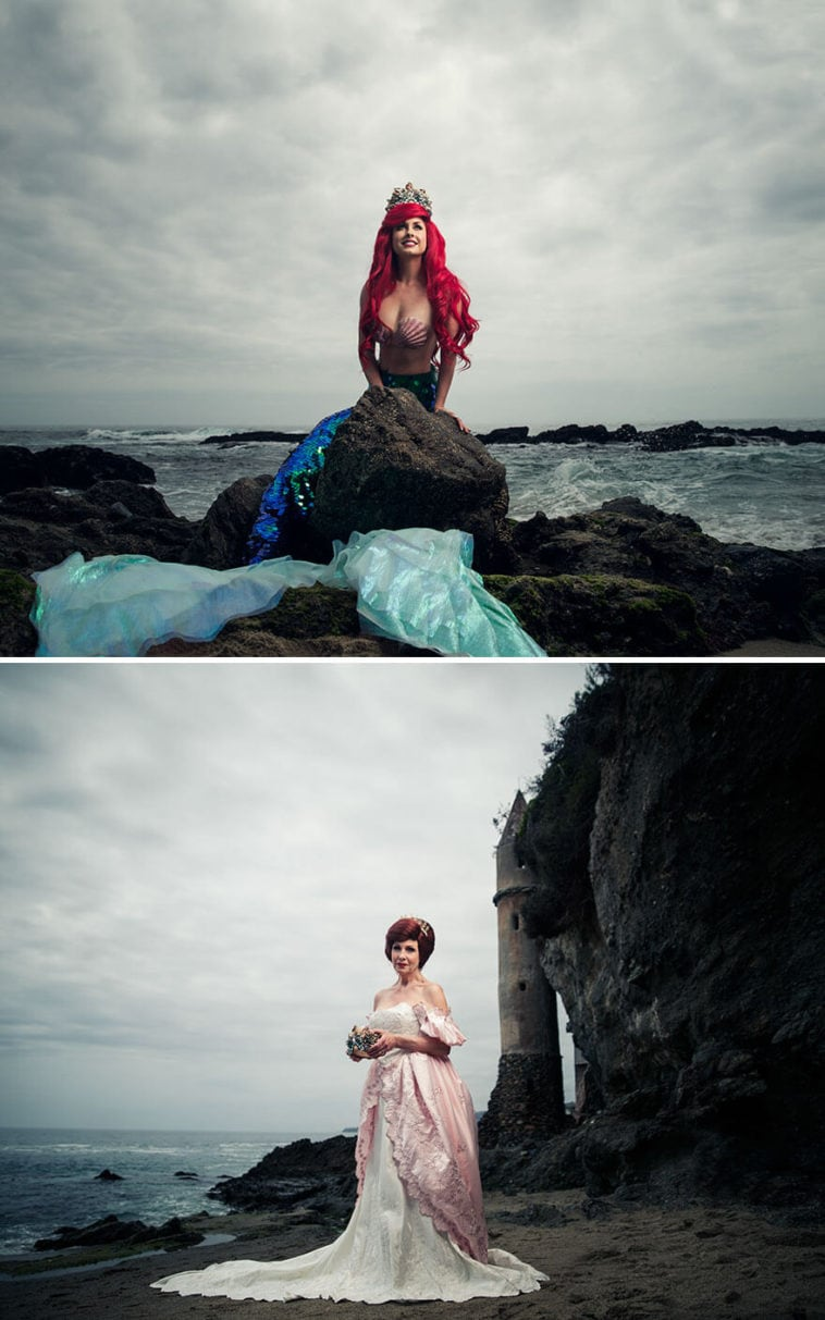Artis Reimagined Disney Princesses Years Later By Real-Life Daughters And Mothers -