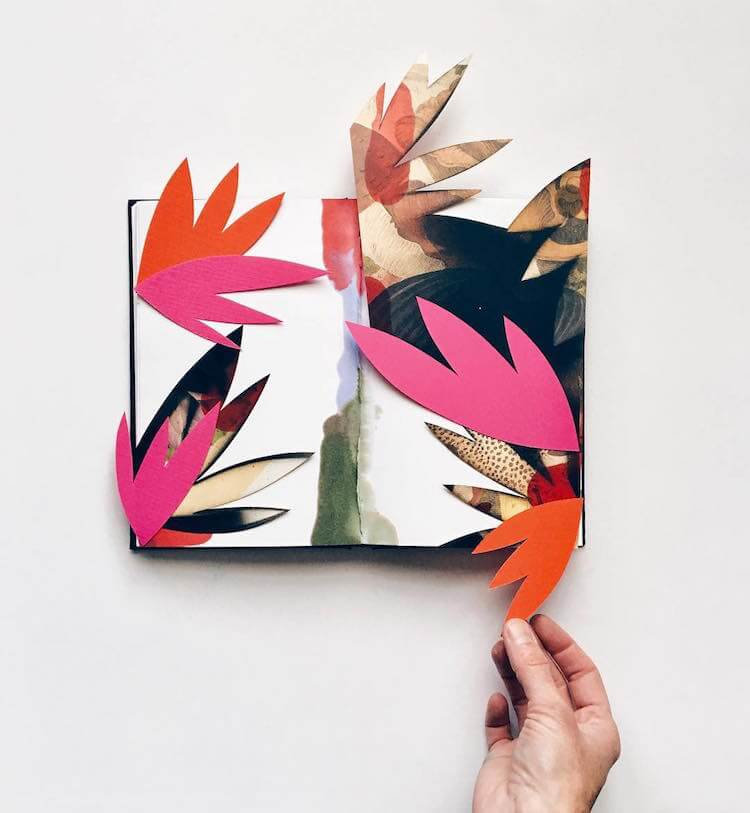 Flowering Sketchbooks Overflow with Beautiful Block Collages -