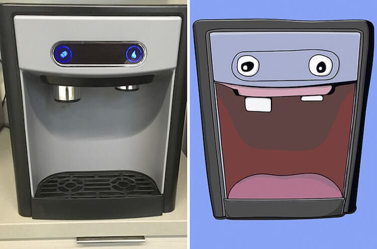 This Man Illustrates the Goofy Faces He Finds in Everyday Things -