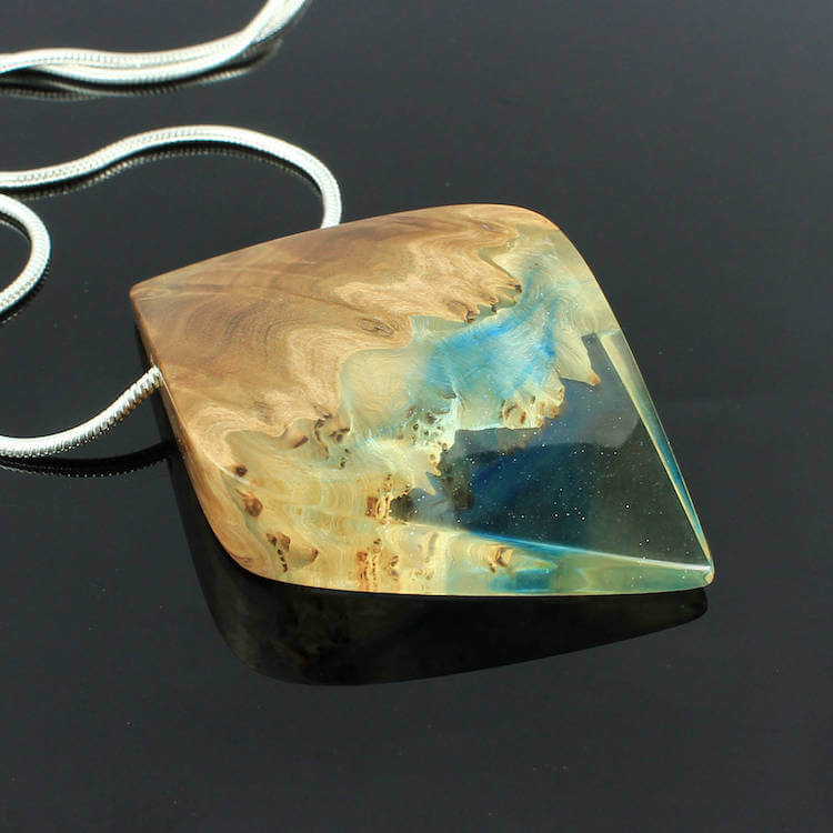 miha debeljak resin jewelry 10 - Glorious Resin Jewelry Encapsulate the Majestic Beauty of the Real World