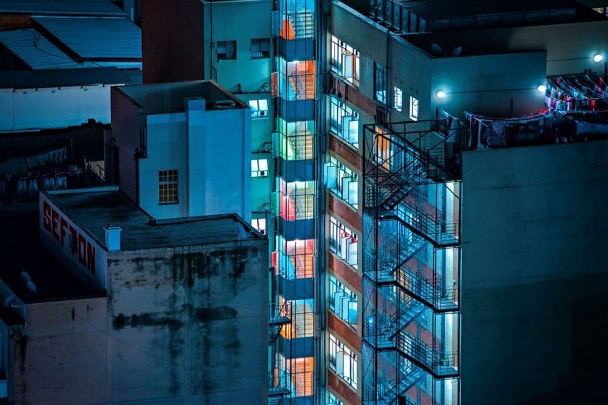 Eerie Photos Depict Striking Neon Nightscapes of Johannesburg -