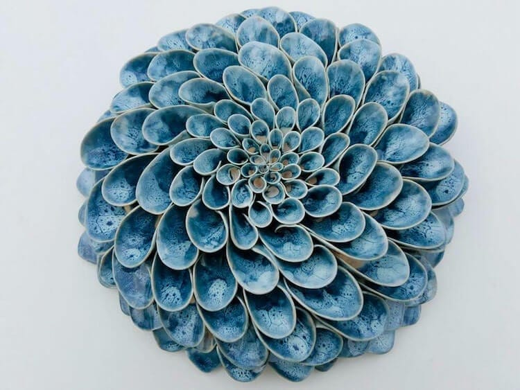 owen mann floramics fy 1 - Artist Meticulously Crafts Blooming Succulents and Flowers From Clay