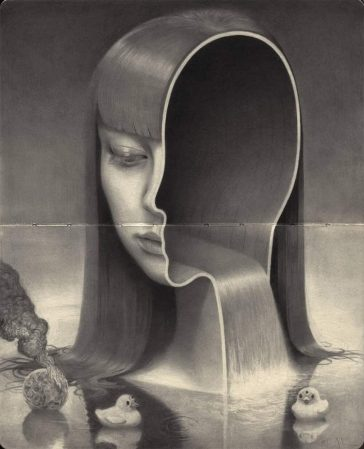 Dark Graphite Portraits by Miles Johnston -SKETCH, pencil, paintings, london, graphite, black and white