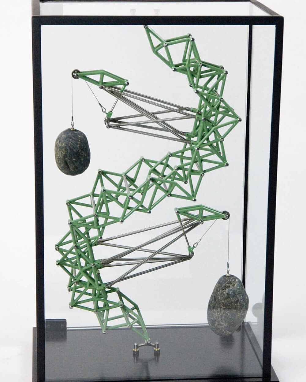 rock sculptures dan grayber fy 3 - Artist Suspended Mechanical Sculptures by with Their Own Weight