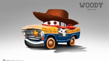 If 8 Popular Pixar Characters Joined The Cars Universe -Pixar, cars