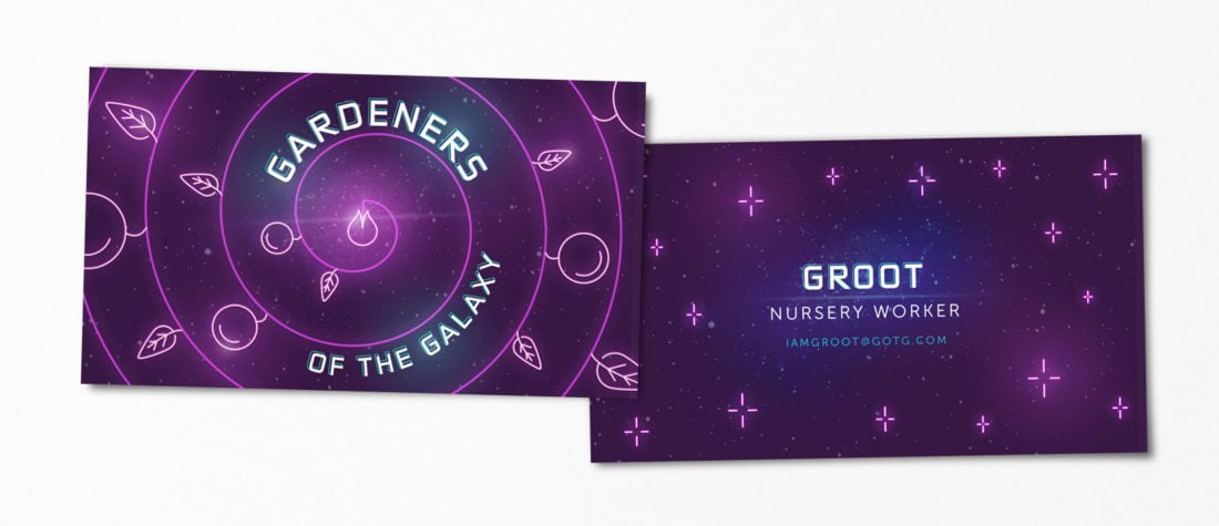 Groot GOTG 1100x475 - Real Life Business Cards Of Your Favorite Pop Culture Characters