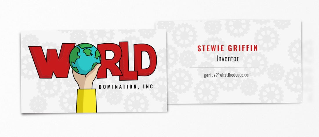 Stewie Griffin Family Guy 1100x475 - Real Life Business Cards Of Your Favorite Pop Culture Characters