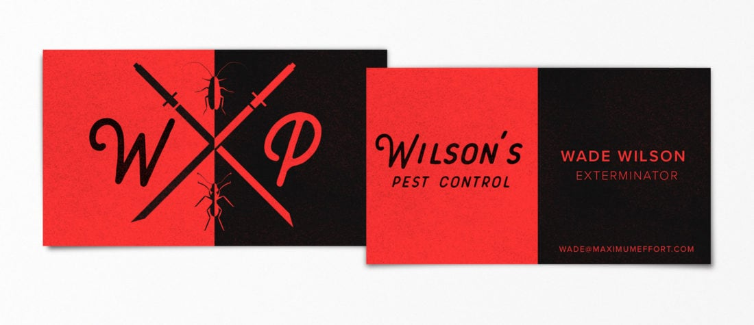 Wade Wilson Deadpool 1100x475 - Real Life Business Cards Of Your Favorite Pop Culture Characters