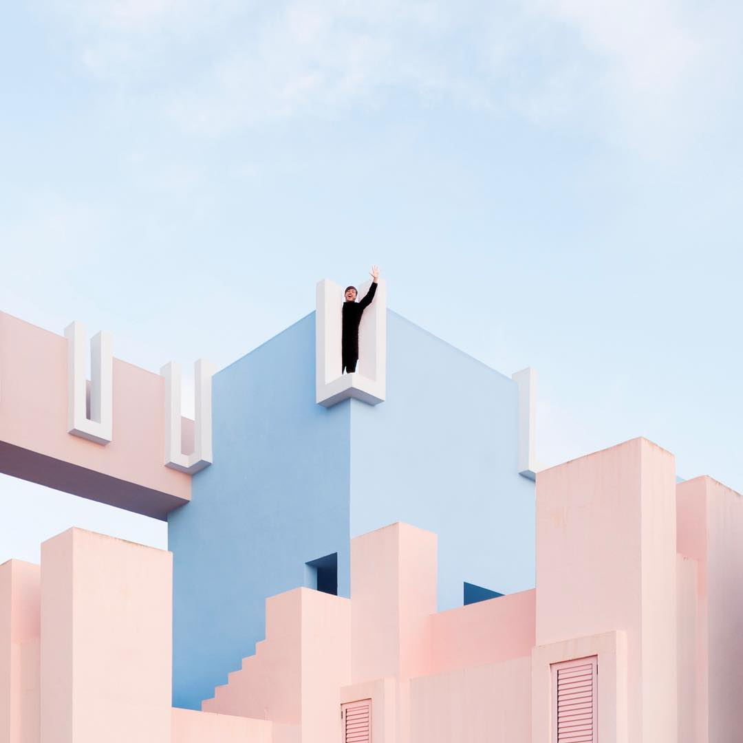 Cute Couple Travels Europe To Play With Architecture -