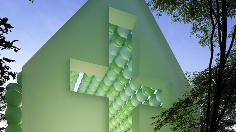 green chapel cyril lancelin fy 1 758x426 - A French Architect Created A  Green Chapel of Spheres that Can be Transported