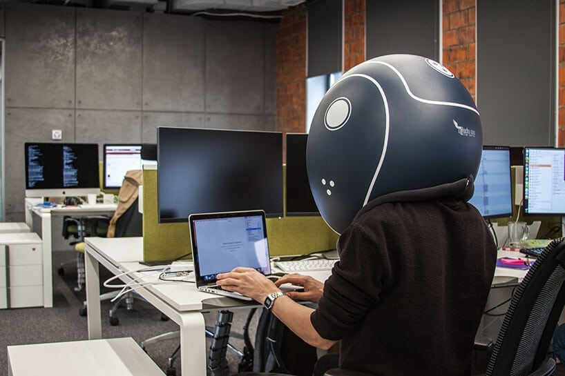 Unique Isolation Helmet Created to Help You Stay  Focused and Productive -