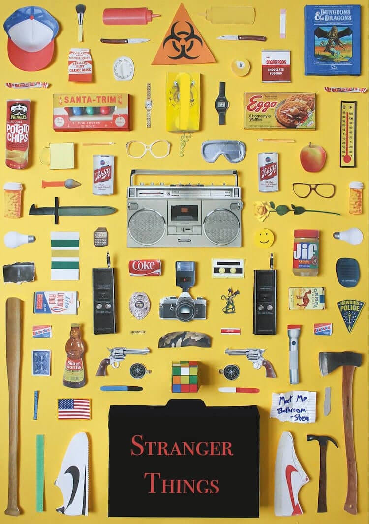 Every Item Featured in Popular TV Shows Are Arranged in These Posters -