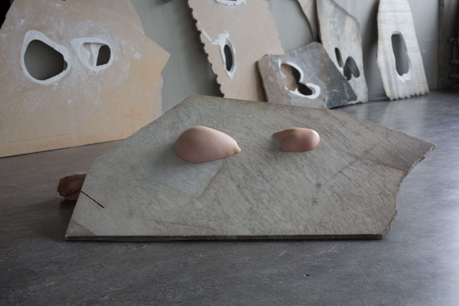 milena naef fleeting parts fy 8 - This Artist Uses Her Body To Create These Marble Installations