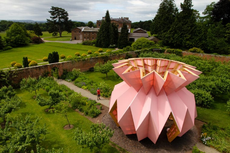 This Origami Pineapple Pavilion by Studio Morison Is A Homage To English Garden Houses -