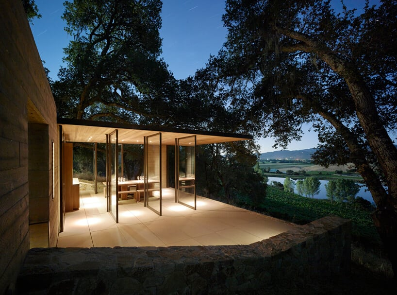 Quintessa pavilions in Napa Valley by Walker Warner Architects -